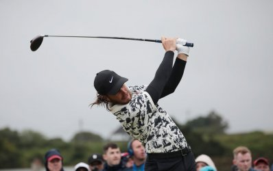 Tommy Fleetwood at the 148th Open Championship at Royal Portrush
