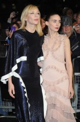 """Cate Blanchett and Rooney Mara attend a screening of """"Carol"""" in London"""