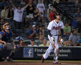 The Atlanta Braves play the New York Mets in Atlanta