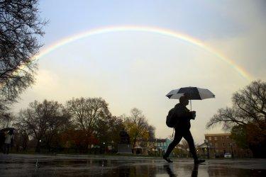 Rainbow over Washington, D.C