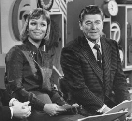 "Ronald Reagan with Daughter Maureen on the ""AM Show"""