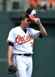 Orioles' Kevin Gausman pitches in Baltimore