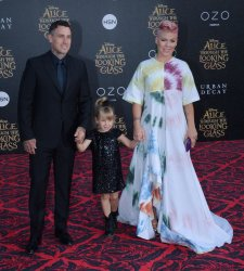 """Pink, Carey Hart and Willow Hart attend the """"Alice Through the Looking Glass"""" premiere in Los Angeles"""