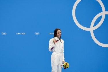 Hali Flickinger USA Silver Medal Winner at the Tokyo Olympics