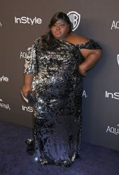 Gabourey Sidibe attends the InStyle and Warner Bros. Golden Globe after-party in Beverly Hills