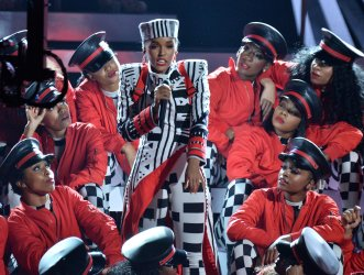 Janelle Monae performs during the 18th annual BET Awards in Los Angeles