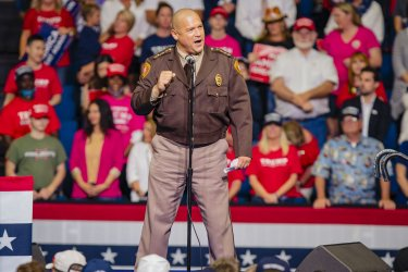 Sheriff Vic Regalado Speaks at a President Trump Campaign Rally
