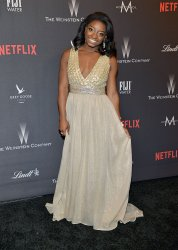 Simone Biles attends Weinstein Company and Netflix 2017 Golden Globes after party