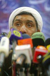 Iran's Interior Minister Mostafa Pourmohammadi holds a press conference in Tehran