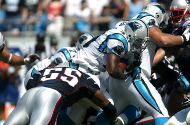NEW ENGLAND PATRIOTS AT CAROLINA PANTHERS