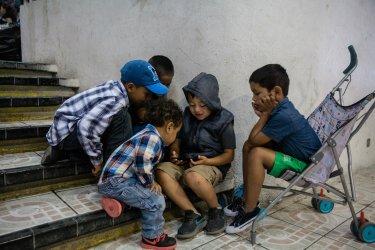 Asylum Seekers wait in Mexico Near U.S. border