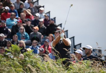 Patrick Reed on the 3rd day of the Open Championship at Royal Portrush
