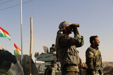 Kurdish Security Forces  During Clashes With Iraq army on the Outskirts of IIrbil, Iraq