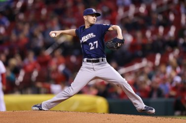 Milwaukee Brewers starting pitcher Zach Davies
