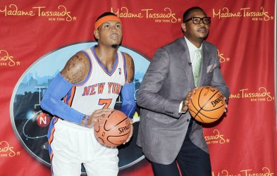 New York Knicks Carmelo Anthony at Madame Tussauds in New York