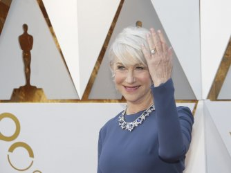 Helen Mirren arrives at the 90th Annual Academy Awards in Hollywood