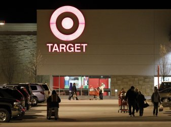 Shoppers leave Target in Waukesha, Wisconsin