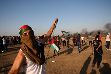 Palestinians Demonstrate Near Gaza's Border With Israel