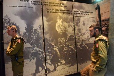 Israeli Soldiers Visit Yad Vashem Holocaust Museum, Jerusalem