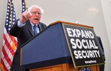 Sen. Sanders holds press confernce on Social Security on Capitol Hill