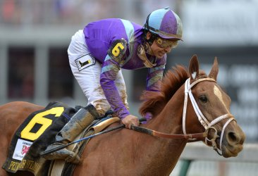 Princess of Sylmar wins the 139th Kentucky Oaks in Louisville, Kentucky