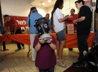 Israelis Pick Up Gas Masks In Jerusalem