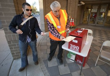 Early Voter Casts Ballot in Denver