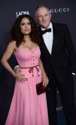 Salma Hayek and Francois-Henri Pinault attend LACMA Art + Film gala in Los Angeles