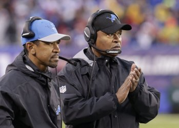 Lions head coach Jim Caldwell stands on the sidelines