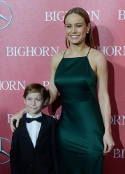 Jacob Tremblay and Brie Larson attend the Palm Springs International Film Festival in Palm Springs, California