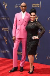RuPaul and Michelle Visage attend the Creative Arts Emmy Awards in Los Angeles