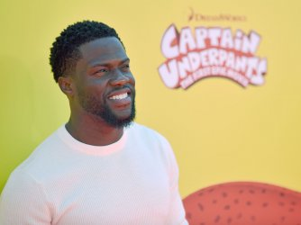 Kevin Hart attends the Los Angeles premiere of 'Captain Underpants'