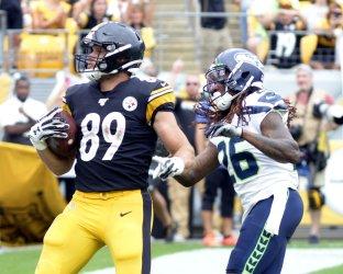 Steelers Kevin Rader Three Yard Touchdown Against Seahawks