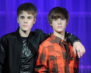Justin Bieber waxwork unveiling in London