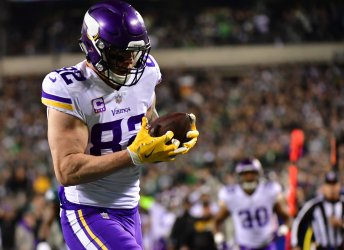Vikings tight end Rudolph catches first quarter touchdown in the NFC Championship
