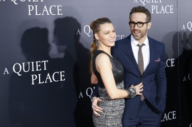Blake Lively and Ryan Reynolds at premiere for 'A Quiet Place'