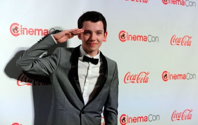 Asa Butterfield arrives at the 2013 CinemaCon Awards Ceremony in Las Vegas