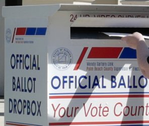 Florida Voters Vote On Primary Day in  West Palm Beach, Florida