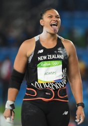 Valerie Adams of New Zealand wins silver in shot put at 2016 Rio Summer Olympics