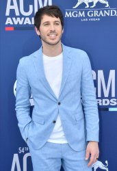 Morgan Evans attends the Academy of Country Music Awards in Las Vegas