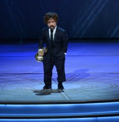 Peter Dinklage wins Outstanding Supporting Actor in a Drama Series award at the 70th annual Primetime Emmy Awards in Los Angeles