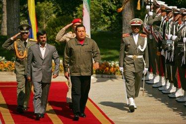 Iran's President Mahmoud Ahmadinejad meets Venezuela's President Hugo Chavez in Tehran