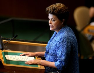 Brazil's President Dilma Rousseff addresses the General Assembly at United Nations