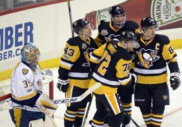 Pittsburgh Penguins Patric Hornqvist Celebrates Goal
