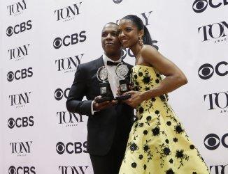 Cast of Hamilton at the 70th Annual Tony Awards