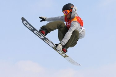 Norway's Sandbech in slopestyle at Pyeongchang 2018 Winter Olympics