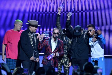 Bad Bunny, Darell, Casper Magico, Nio Garcia, Nicky Jam and Ozuna win award at the Billboard Latin Music Awards in Las Vegas