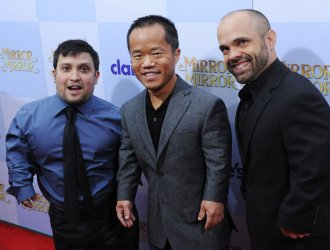 "Joey Gnoffo, Ronald Lee Clark and Sebastian Saraceno attend the ""Mirror Mirror"" premiere in Los Angeles"