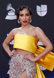 Anitta arrives for the Latin Grammy Awards