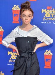 Anna Cathcart attends the MTV Movie & TV Awards in Santa Monica, California